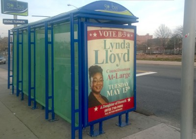 Lynda Lloyd bus shelter